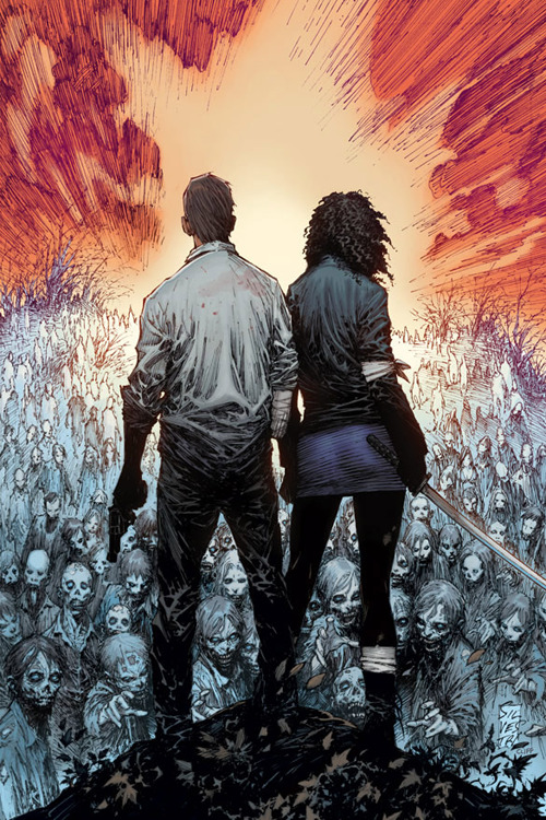 the-walking-dead-amc:  The Walking Dead issue #100 variant cover art by Ryan Ottley New interview with Robert Kirkman about issue #100 can be found here.