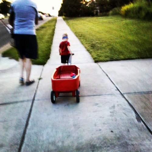 #Walking #home!!! #Wagon #fosterkid #fostercare #fosterkiddo (Taken with instagram)