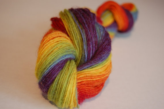 lovelyfibers:  (via Rainbow Noro Handspun Sock Yarn by KnittingOwl2321 on Etsy)