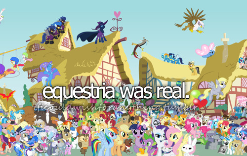 If I could wish for anything… I would wish for Equestria to be real.