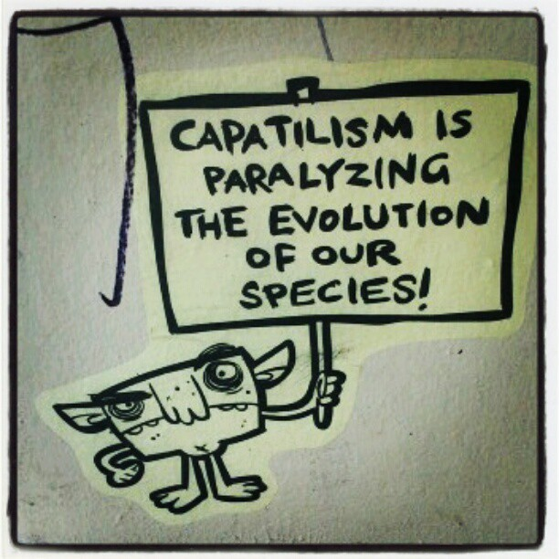 pauseforasecond:  #auckland #streetart #nz #graffiti #capitalism (Taken with instagram)