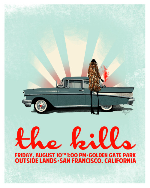a poster I did [for fun] of the kills who will be here soon for outside lands! enjoy! © megan inghram