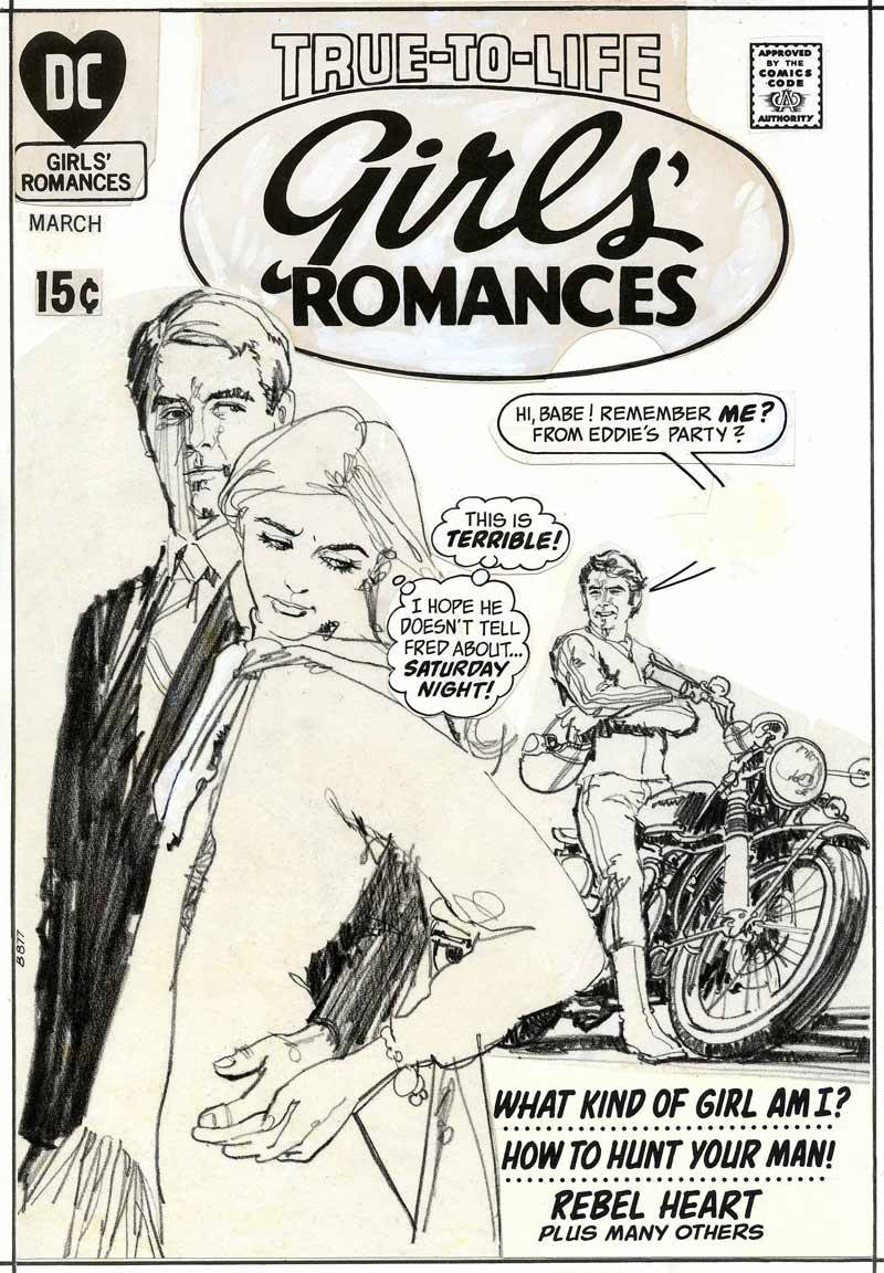 jenniferdeguzman:  Cover of Girls' Romances, published by DC Comics by Tony DeZuniga