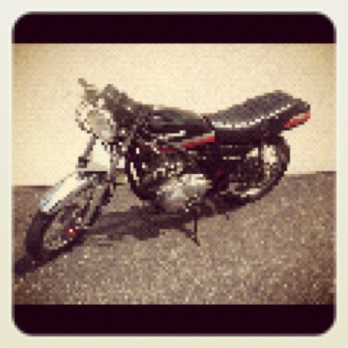 My '79 cafe racer is ALIVE!!!!  (Taken with instagram)