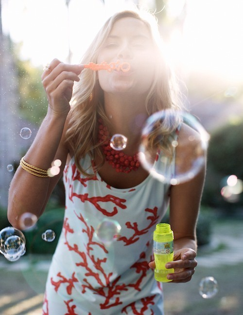 play with bubbles…