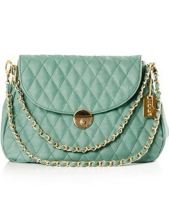 Popular Green 30*8*21cm PU Womens Shoulder Bag :  fashion pu green shoulder bag