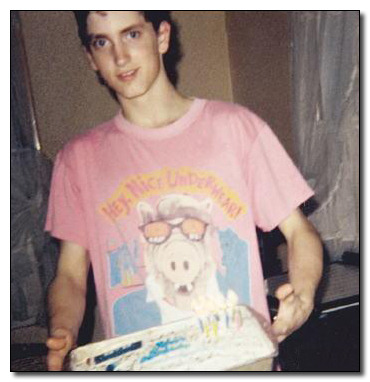 young Em killin it with the Alf shirt and birthday cake