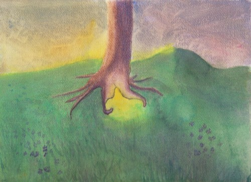"THE FAERIE TREE ""They gathered there, always around dusk, from their various haunts in the wood, to celebrate the coming of night."" From THE FAERIE RING"