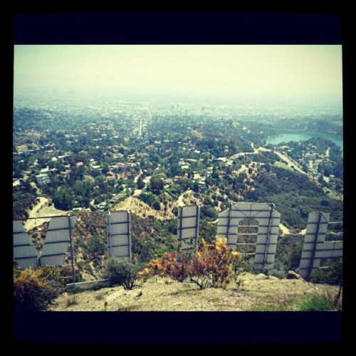 #Hollywood sign hike. I made it!  (Taken with instagram)