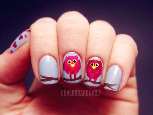 Bird Nail Art - Love It So Much on We Heart It. http://weheartit.com/entry/28362421