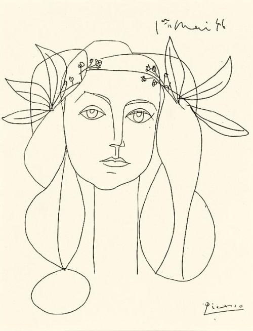 felixinclusis:  Picasso, Head, 1948