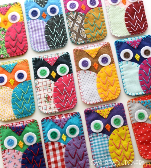 Felt and Fabric Owl iPhone Cozy Case by lova revolutionary