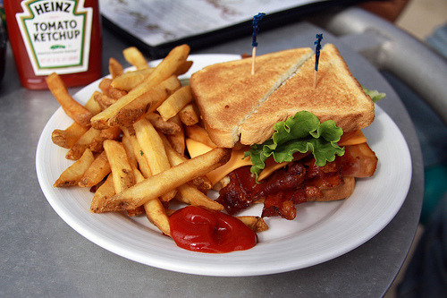 BLT sandwich. Visit  latenitemeal for more deliciousness.