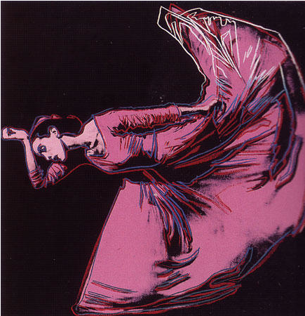 "Andy Warhol     Martha Graham: Letter to the World (The Kick)      1986  ""Dance is the hidden language of the soul"" Martha Graham"""