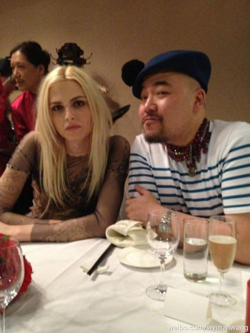 hausofandrejpejic:  Andrej Pejic and Wymanwong at the dinner last night in Beijing (weibo.com via @Aoning)