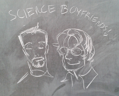 Did another drawing on the white board in the hall when I got back after class. lol