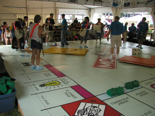 LARGEST game of Monopoly I've EVER SEEN!! (Human Monopoly Board)
