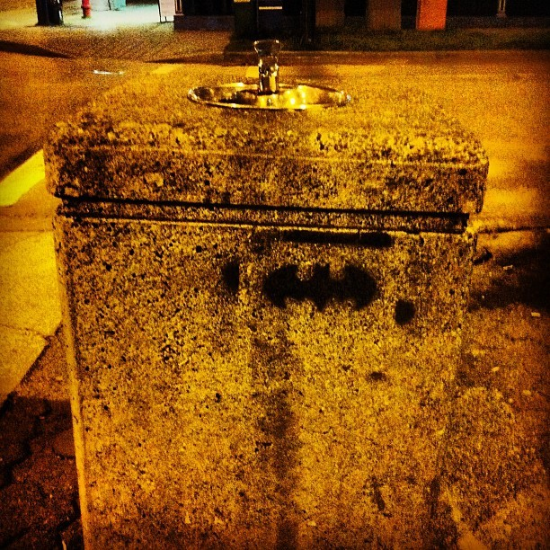 Batman Water Fountain found in West End   (Taken with instagram)