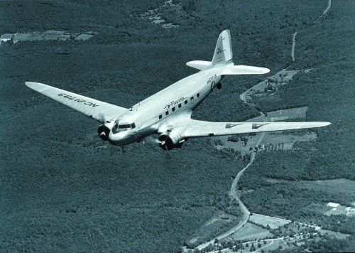 upilufti:  American Airlines flew the first commercial DC-3 flight on June 25, 1936.