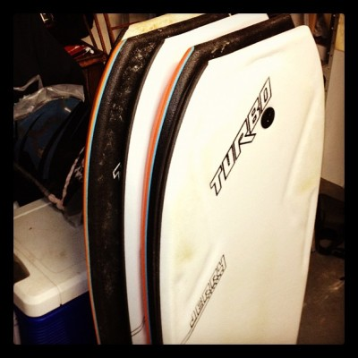 Garage quiver. #turbo #home #bodyboarding  (Taken with instagram)