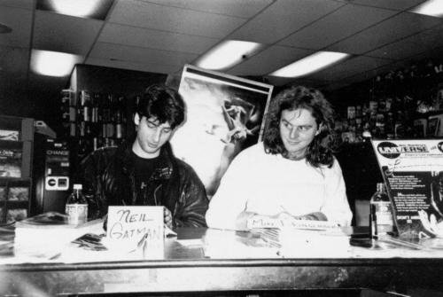 "Neil Gaiman & Mike Dringenberg — in-store signing for ""Sandman"" #1, c. 1989"