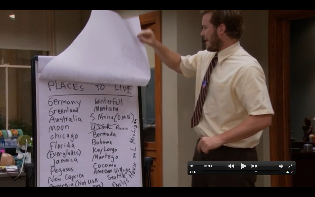 Winterfell = Game of Thrones reference in Parks and Rec!