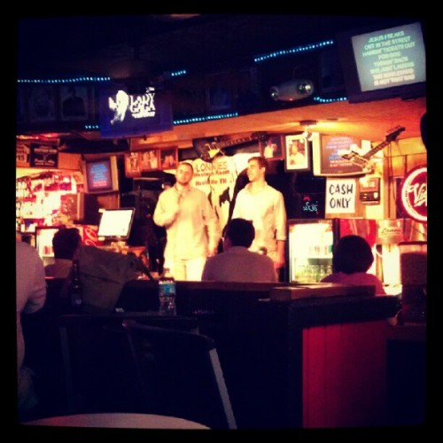 Somehow ee always end up at the shady karaoke bar.  (Taken with instagram)