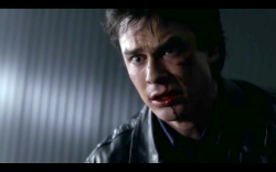 Damon's face when he realizes Elena might be dead. Made me cry!