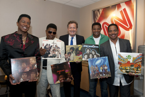 @Jacksons in the green room with @piersmorgan at CNN. Check your local listings to see the show! Photo by @harrisonfunk