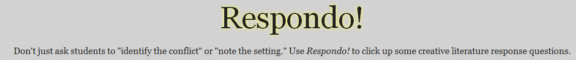 Easy to use Respondo! enables teachers to create differentiated literature response questions. #elemchat #spedchat #differentiation Make your selections from Respondo's drop down menus and add your story/book title. That's all there is to it. Nice and EZ! You may also like… 3 Great Differentiation Assessment Tools 3 Customizable Tools to Help You Create Differentiated Lessons Proud Wall