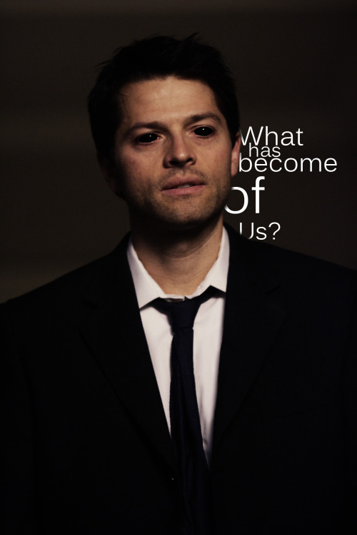 I've always loved the thought of Castiel losing his ambitions and falling to the level of demon, helping the boys do something so against heaven that he goes full on Lucifer :3