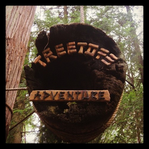 Instagram-ing the world, one city at a time: Treetop Adventure in Vancouver. Taken with instagram