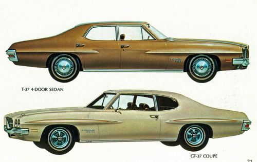 1971 Pontiac T-37 4 Door Sedan and GT-37 Coupe  by coconv on Flickr.1971 Pontiac T-37 4 Door Sedan and GT-37 Coupe