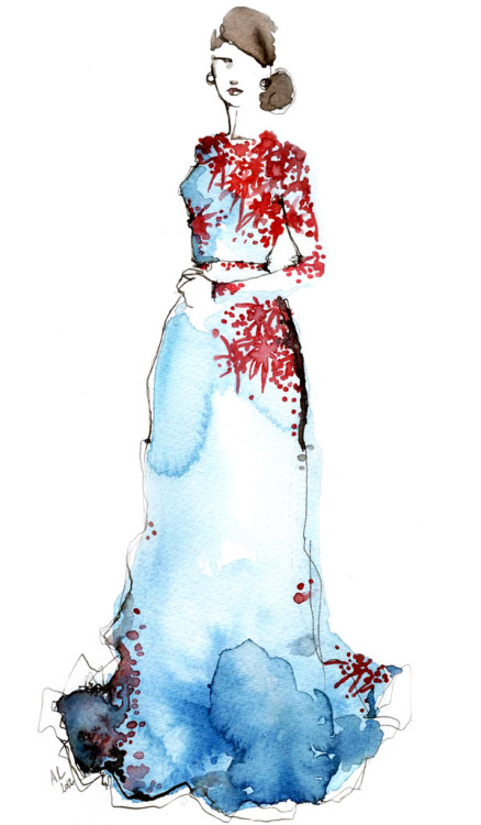 Alexander Terekhov Fall Winter 2012-2013 - Fashion Illustration