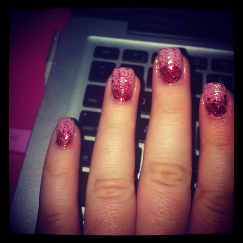 oh hello glitter nails