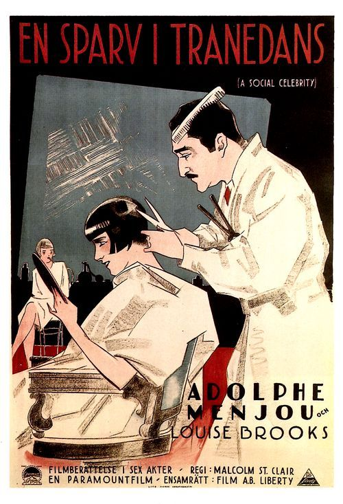 sydneyflapper:  Louise Brooks and Adolph Menjou in A Social Celebrity
