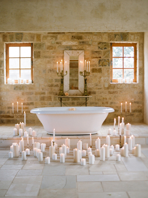 luxury relax with candles