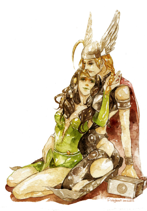 Lady Thor and Lady Loki from Asgard~