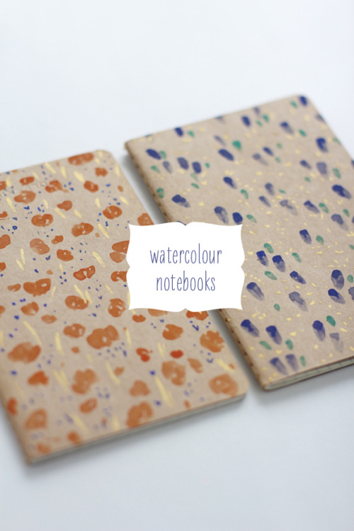 artpixie:  fellowfellow – DIY Watercolour Notebooks