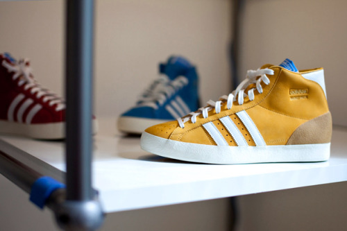 ADIDAS ORIGINALS FALL 2012 BASKET PROFI.  Adidas Originals will release this new Basket Profi model for Fall 2012. The hyper minimal model was originally released in the 60′s and is due for release in a number of colourways. Here's a teaser of what's to come.