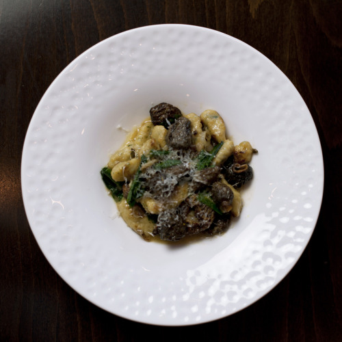 Herbed Potato Gnocchi with morels, ramps, and truffle butter