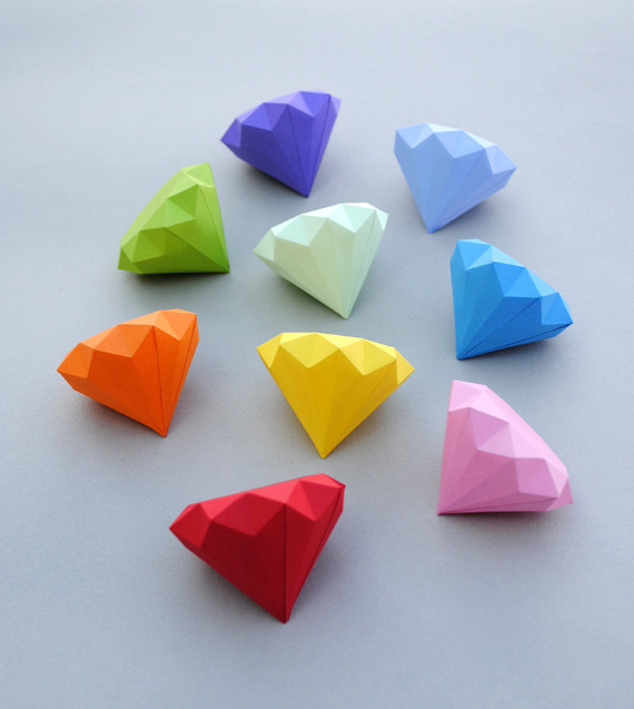 artpixie:  3D paper diamonds by Mini-eco