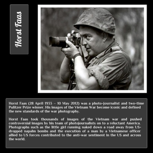 In memory of Horst Faas, a great photographer.