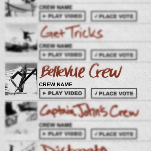 Go to TheBerrics.com and vote for Bellevue Crew!!! (Taken with Instagram at TheBerrics.com)  Go pick BELLEVUE CREW then 2 other random crews and submit the form!! HELP US OUT!