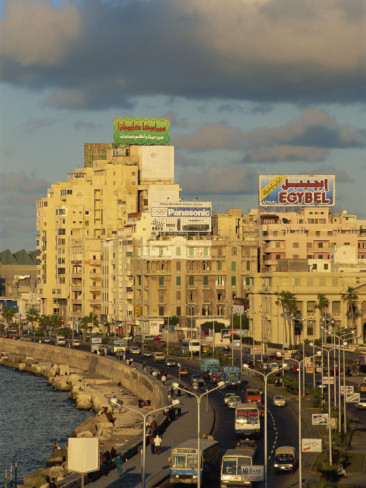 1000meaninglesswrds:   Corniche in Evening Light, Alexandria, Egypt,by Strachan James  I miss this so much!