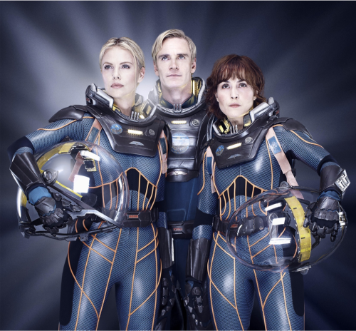ianderry:  My shoot with Michael Fassbender , Noomi Rapace and Charlize Theron for new Ridley Scott film #prometheus