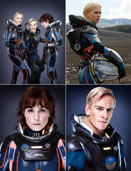 kpv:  totalfilm:  New images from Prometheus Prometheus has debuted a handful of new images in the latest issue of Entertainment Weekly, featuring the exploratory crew taking their first tentative steps onto the alien planet…  I'm fucking pumped for this movie.