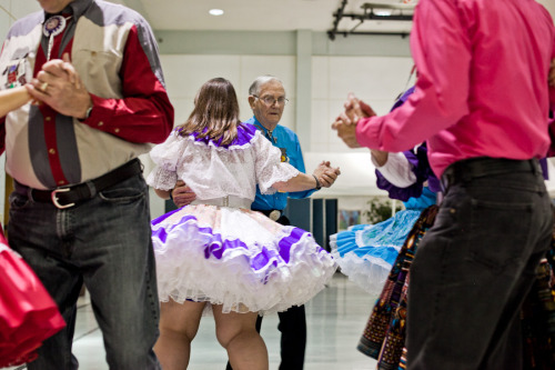 "I love seniors. Seniors that square-dance? Even better.   (PHOTOS: Connie Tsang) In Nashville, Tennessee, a tight-knit group of square-dancers meets at halls and churches to do-si-do, socialize, snack on cheesies, and offer the most genuine ""yellow rocks"" (hugs) that you'll ever experience in your life. The dancers are primarily individuals and couples over 50, most of whom attend at least 2 or 3 events a week, while some known as ""diehards"" are hitting the floor almost every night. And for good reason, too; it not only fulfills the need for physical activity, but for those who've lost a life-long partner or are recuperating from an illness, the square-dancing community is the best support system they could ask for."