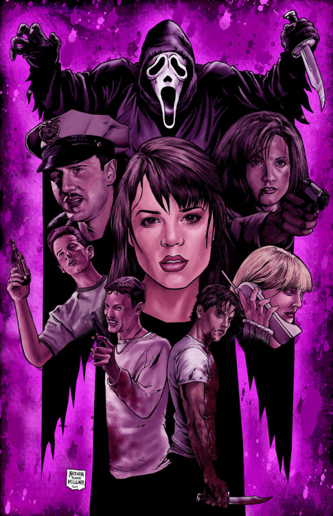 Incredible Scream poster created for Horror Hound issue #28 by Nathan Thomas Milliner