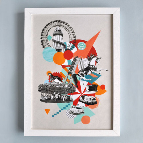My Fairground Fun print is now available to buy in the Many Hands store for a mere £25! Go grab a bargain :)